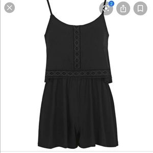 $10 With Purchase Topshop Lace Overlay Romper